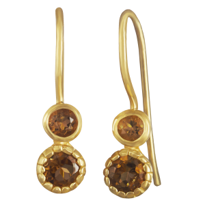 earrings for women citrine and yellow gold